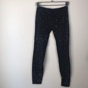 French Laundry rhinestone sparkle leggings